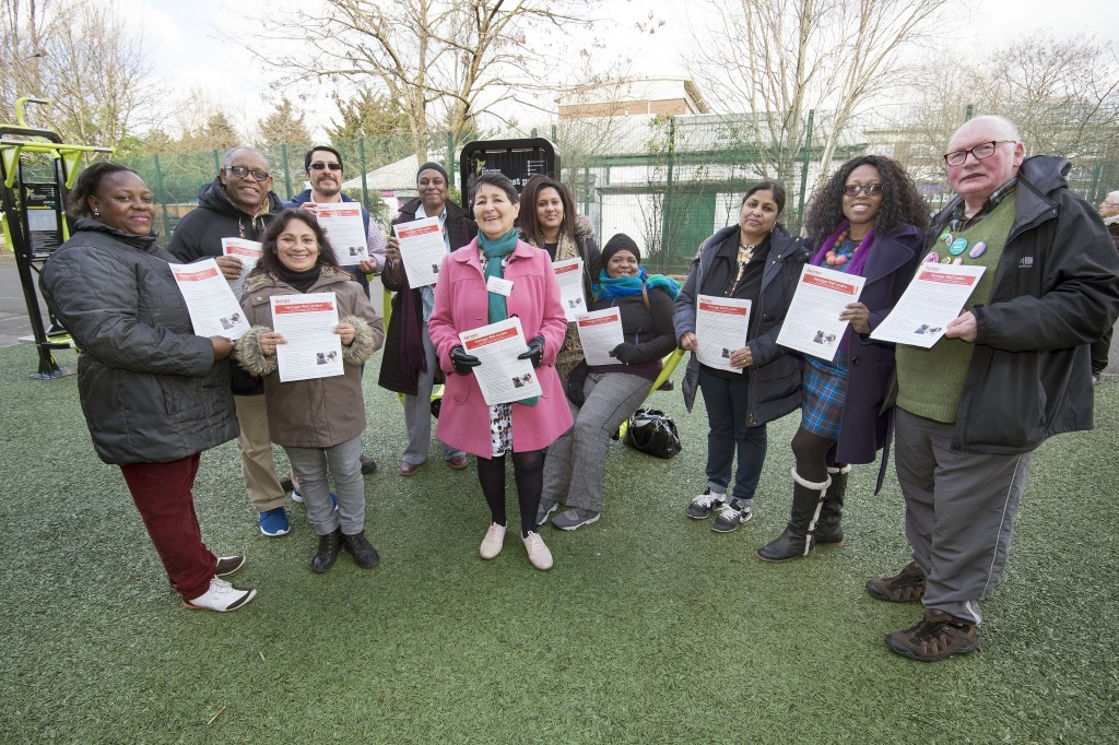 Official launch of Northumberland Park Outdoor Gym and Community Hub.  Cllr's, residents, R.A members and Wellbeing Communities attended.  Food was served bu 'Under One Sun' community group.  WELLBEING COMMUNITIES CHAMPIONS PICTURED.